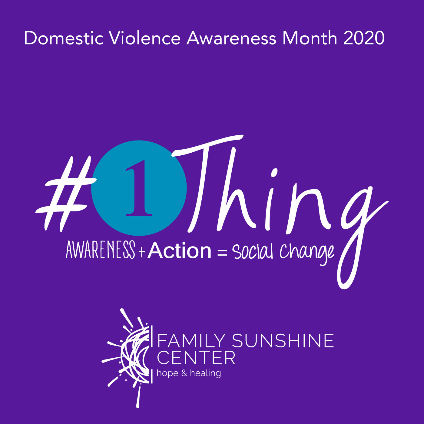 October is Domestic Violence Awareness Month!